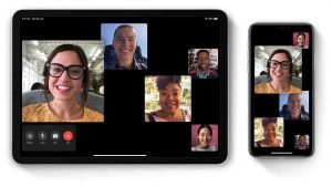 Facetime conference call video